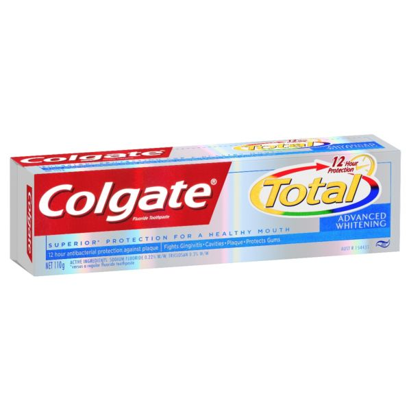 Colgate Total Advanced Whitening Fluoride Toothpaste 110g