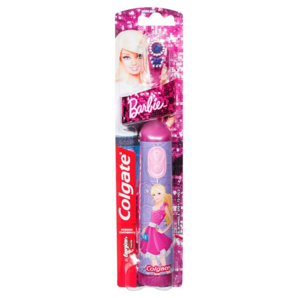 Colgate Marvel Spider-Man or Barbie Powered Toothbrush Extra Soft