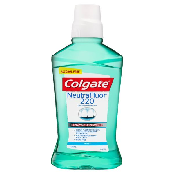 Colgate NeutraFluor 220 Daily Fluoride Mouth Rinse Mint 473mL