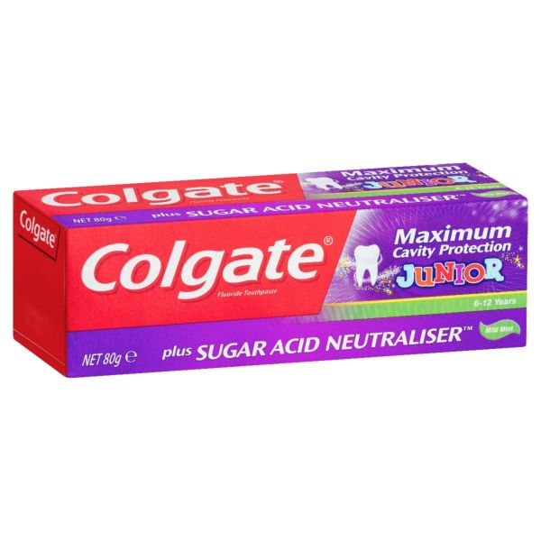 Colgate Cavity Protection Toothpaste Junior Mild Mint 80g