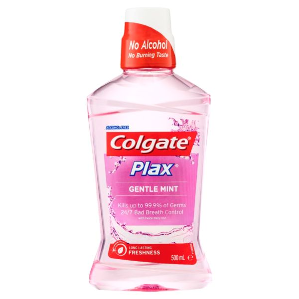 Colgate Plax Mouthwash Gentle Mint 500mL