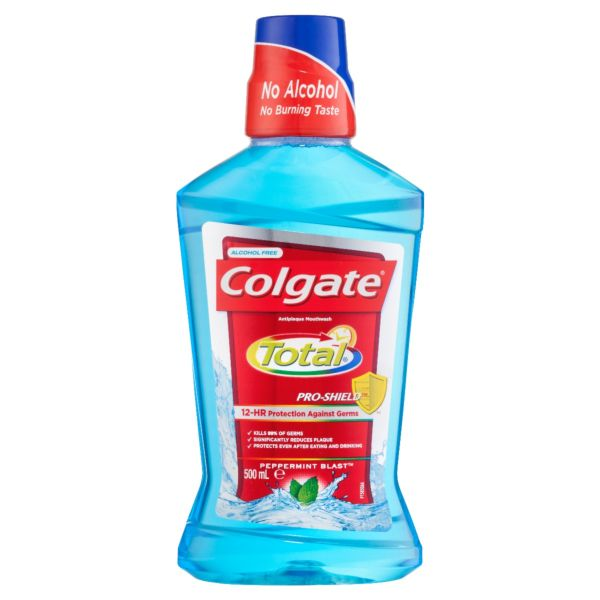 Colgate Total Mouthwash Peppermint 500mL